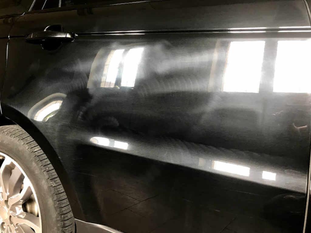 renovace laku automobilu - 50-50